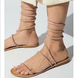 Free people habana gladiator blush wrap sandal 8.5